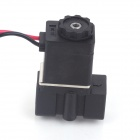 "24V DC 1/4"" N/C Normally Closed Plastic Electric Air Gas Water Solenoid Valve - Black"