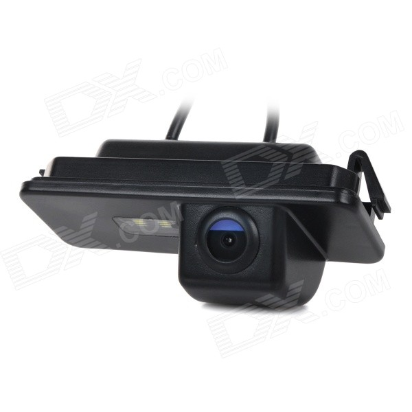 Wired CCD IP66 Waterproof 170' Wide-Angle Car Rearview Camera for VW Golf / Bora & More - Black
