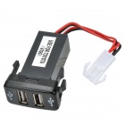 12V~24V to 5V / 2.1A 2-Port USB 2.0 Vehicle Car Power Inverter Converter for Toyota Hilux VIGO