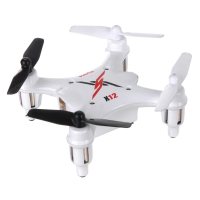 SYMA X12 2.4GHz 4-Channel 6-Axis Gyro Mini R/C Quadcopter Aircraft Toy - White