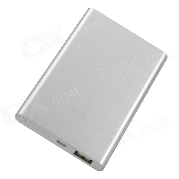Portable Mobile Lithium Polymer 3500mAh Lithium Polymer Power Bank - Silver polymer lithium battery 11000mah 3 7v ultra large capacity mobile power charging treasure a core li ion cell