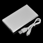 Portable Mobile Lithium Polymer 3500mAh Lithium Polymer Power Bank - Silver