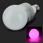 JR-LED E27 10W 500lm 380nm LED Pink Light Plant Growth Lamp - White + Silver (AC 85~265V)