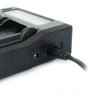 "3.1"" LCD Dual LP-E6 Batteries Charger for Canon EOS 5D Mark II, 60D / 6D / 7D / 5D Mark III - Black"