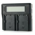"3.1"" LCD Dual BP-U30 / BP-U60 / BP-U90 Batteries Charger for Sony - Black"