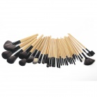 MeGooDo CB82069 32-in-1 Professional Women's Makeup Cosmetic Brush Set w/ Roll-up Carrying Case