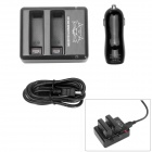 Fat Cat CH-K41 Traveling Smart Dual-Slot USB Fast Charger + Dual-USB Car Charger for GoPro Hero 4