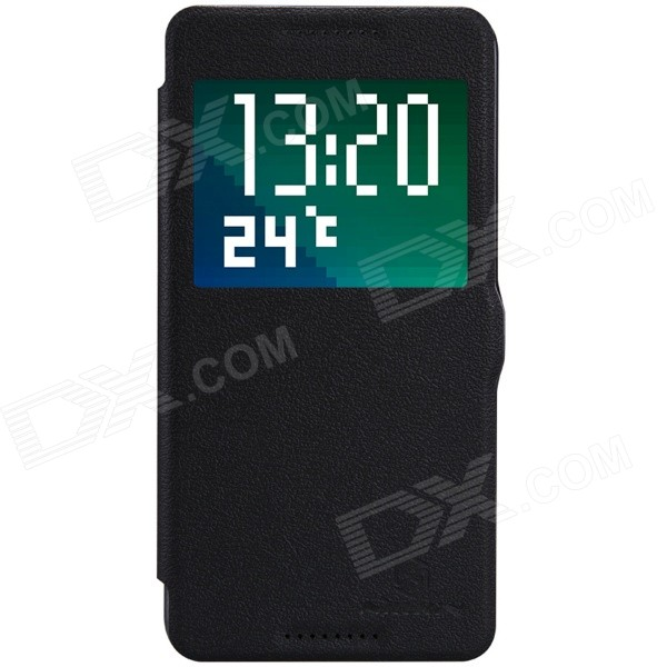 NILLKIN Fresh Series Protective Flip Open PU Leather + PC Case for HTC Desire 820 - Black nillkin fresh series leather case чехол для htc one max black