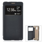 Hat-Prince Protective Case w/ Call Display + Stand for Samsung Galaxy Note 4 N9100 - Black