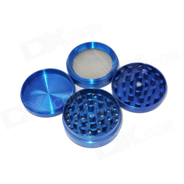 Aluminum Alloy Four-Layer Herb / Spice / Pollen Grinder - Blue