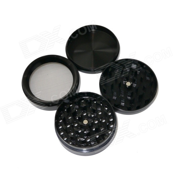 Aluminum Alloy Four-Layer Herb / Spice / Pollen Grinder - Black