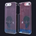 Little Girl Pattern LED Flash Light Protective PC Back Cover Case for IPHONE 5 / 5S - Pink