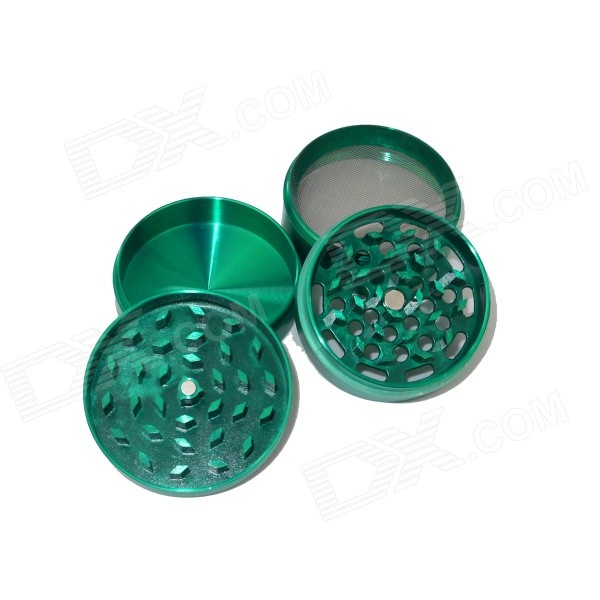Aluminum Alloy Four-Layer Herb / Spice / Pollen Grinder - Grass Green
