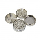 Aluminum Alloy Four-Layer Herb / Spice / Pollen Grinder - Silver