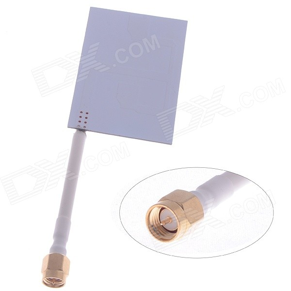 5.8GHz 5dBi Omnidirectional High Gain Array Antenna for RC Model - White + Yellow