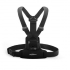 NEOpine Nylon Adjustable Elastic Chest Strap Mount for Gopro Hero 4 / 2 / 3 / 3+ / SJ4000 - Black