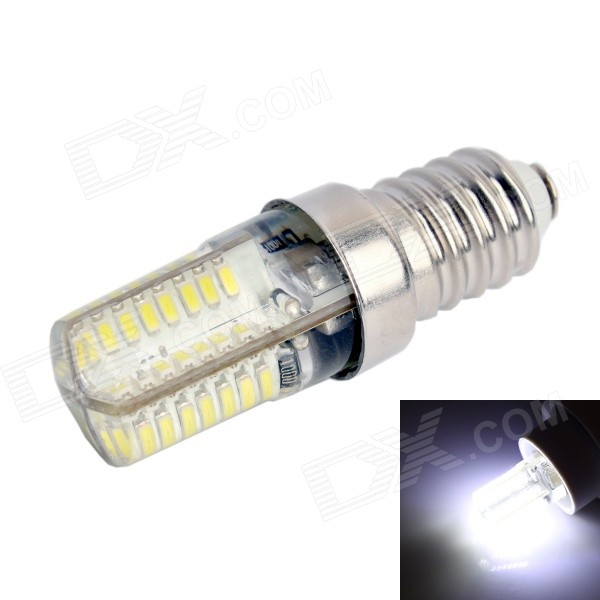 GC E14 3W 170LM 6000K White Light 64x3014 SMD LED Corn Bulb (AC 90-240V) gc e14 3w 170lm 3000k 64 3014 smd led warm white light corn bulb ac 90 240v