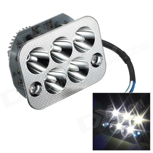 Merdia H5 5-COB LED 18W 1800LM 6000K White Light High-Low Beams Projector Headlight for Motorcycle