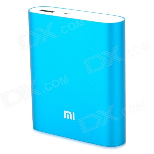 XIAOMI 10400mAh Li-ion Battery USB Mobile Power Source Bank - Blue xiaomi universal 10400mah usb li ion battery power bank w 4 led indicators deep pink