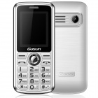"GUSUN F7 GSM Bar Phone w/ 1.77"" Screen, Quad-Band, FM, Torch for Elderly - White"