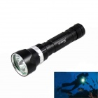 KINFIRE High Waterproof 3-LED 1800lm Diving Flashlight - Black (2 x 18650/26650)
