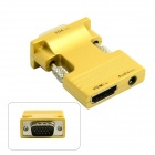 CY HD-173-GO HDMI Female to VGA Male Adapter w/ Audio Output for PC / Laptop + More - Golden