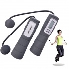 "NEJE DG0008-2 Wireless Skipping Rope w/ 2"" Screen Calorie Counter - Grey + White (2 x AAA)"