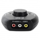 1-to-3 Audio Video Switcher para VCD / DVD + More - Black (Cabo-100cm)