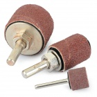 Professional Electric Drill / Grinder Sandpaper Rings Polishing Grinding Tools Set - Brown