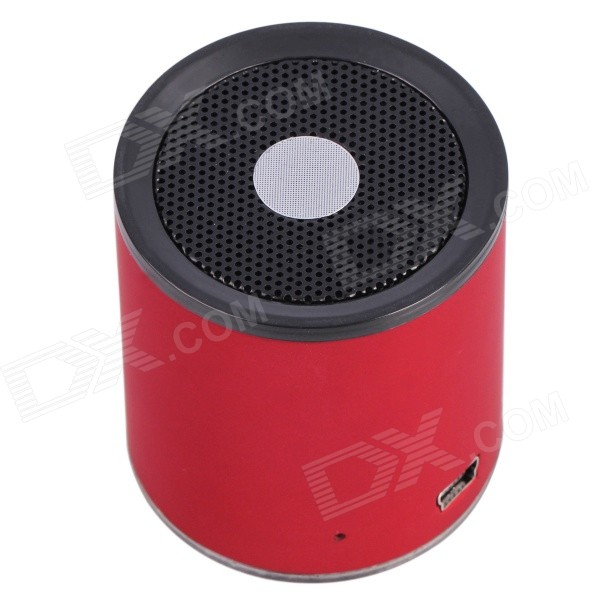 Aoluguya B2132 Mini Portable Subwoofer Bluetooth V3.0 + EDR Speaker w/ Mic., TF - Red mymei groupie mini speaker portable bluetooth mp3 no high fidelity high wire subwoofer active low outdoors free music speaker for