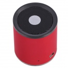 Aoluguya B2132 Mini Portable Subwoofer Bluetooth V3.0 + EDR Speaker w/ Mic., TF - Red