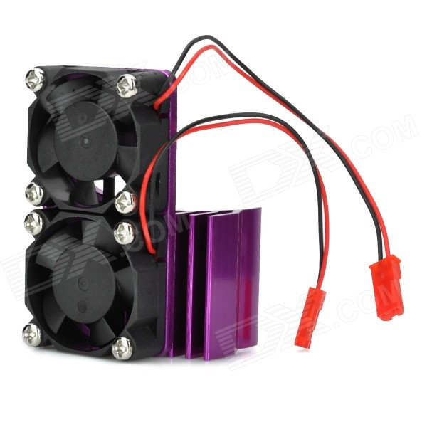 Aluminum Alloy Motor Radiator for R/C 540 / 550 Car Model - Purple + Black