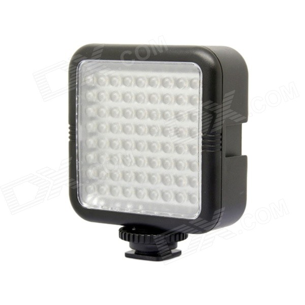 4.3W 504lm 6000K 72-LED Professional Video Light - Black