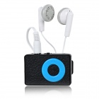 Wood Grain Style MP3 Player w/ Clip / TF / Mini USB / 3.5mm Jack - Black + Blue