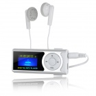 "1 ""OLED MP3 Player w / Torch / Clip / TF / Mini USB - Prata + Branco"