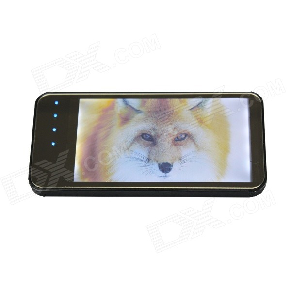 Ultrathin Universal 5000mAh Li-polymer Portable Power Bank for Cellphone / Tablet PC + More - Black portable 6000mah power bank w flashlight for mobile tablet pc more pink white