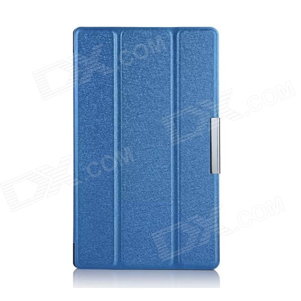 Protective PU Leather + PC Case w/ Magnetic Closure / Stand for Sony Xperia Z3 Tablet Compact - Blue for sony z3 case book leather case tablets accessories business cover fundas for sony xperia z3 compact tablet pu stand cases