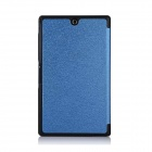 Protective PU Leather + PC Case w/ Magnetic Closure / Stand for Sony Xperia Z3 Tablet Compact - Blue