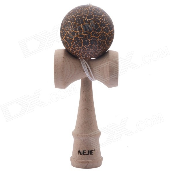 NEJE Children's Crack Pattern Kendama Ball Toy Traditional Game Skill Toy - Black + Wood