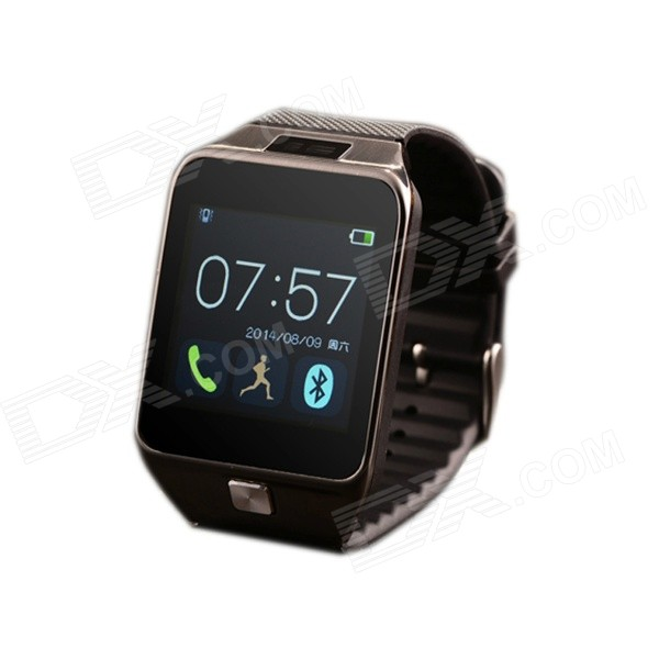 1.54'' Capacitive Screen Wireless Bluetooth Smart Wirst Watch for Samsung / Sony + More - Grey