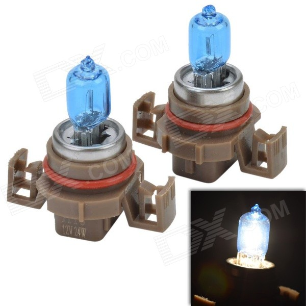 Universal H16 24W 5000K 500LM White Lighe Halogen Bulb for Car / Motorcycle (12V / 2 PCS)