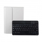 Detachable TPU + ABS Bluetooth V3.0 64-Key Keyboard Case for IPAD 6 - White