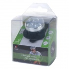 USB Rechargeable Ultra-Bright 100lm White 3-LED 4-Mode Bike Safety Light - Black + Silver
