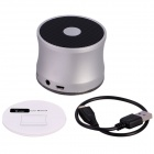 Aoluguya B210 Mini Portable Subwoofer Bluetooth V2.1 Speaker w/ Mic., TF, Mini USB - Silvey White