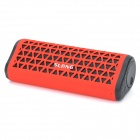 SLANG X7 Portable Outdoor Bluetooth Subwoofer Speakers w/ FM / TF / Hands-free - Red + Black