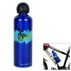 SAHOO Portable Light Weight Alloy Water Bottle for Cycling / Sports - Blue (750mL)