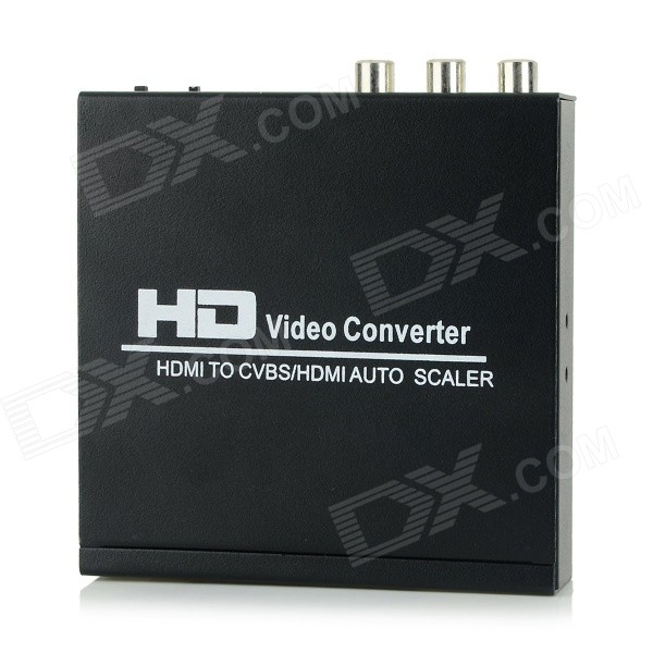 HDMI to AV / RCA Signal Converter - Black mini composite av cvbs hdmi to 3 rca video converter adapter