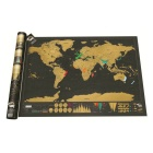 Creative Luxury Scratching World Map Poster - Black (82.5 x 59.4cm)