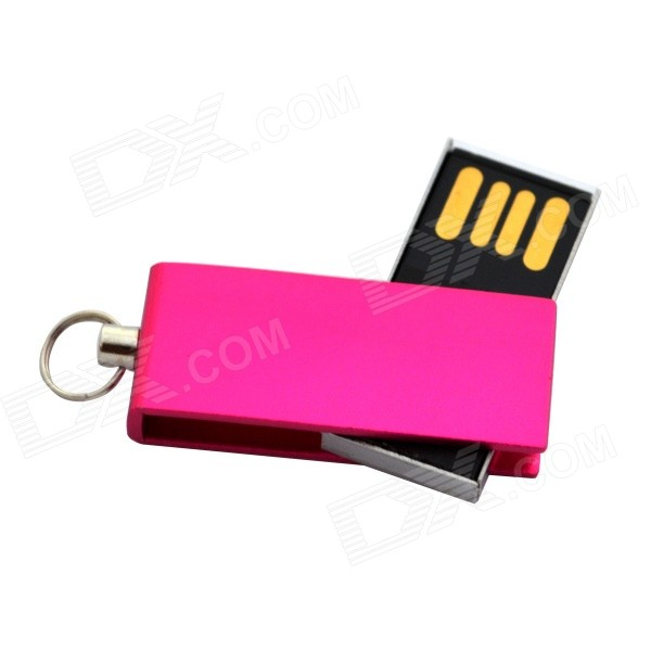 Mini USB 2.0 Flash Drive - Deep Pink (64GB)