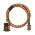 Yellow Knife YK02 HDMI to DVI 24+1 Pin HD Convert Cable - Brown + Orange (1.5m)